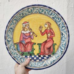 "Ceramic plate ""Bruno"" ref.35-1"