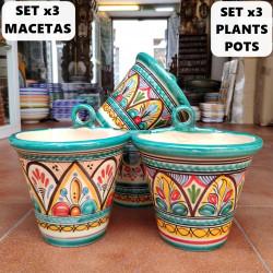 Set of 3 Plants Pots-Hang...