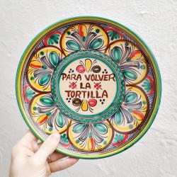 """Plate """"Tortilla"""" ref.127-25-v"""