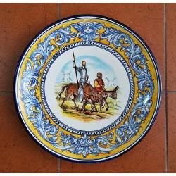 """Ceramic plate """"Quijote""""..."""