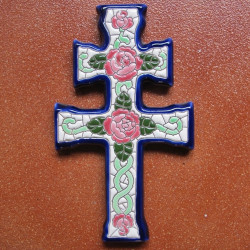 "Ceramic cross ""Arte"" ref.984-3"