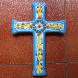 "Ceramic cross ""Arte"" ref.993-4"