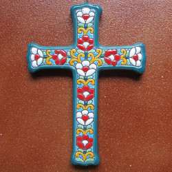 "Ceramic cross ""Arte"" ref.993-6"