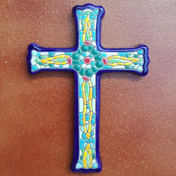 "Ceramic cross ""Arte"" ref.993-7"