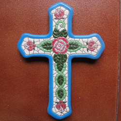 "Ceramic cross ""Arte"" ref.994-1"