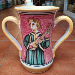 """Ceramic """"two handles"""" cup..."""