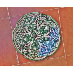 Plato-frutero de cerámica...