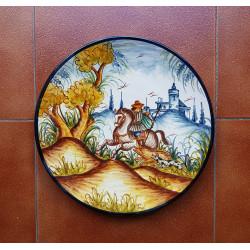 "Ceramic plate ""Rama"" ref.32-1"