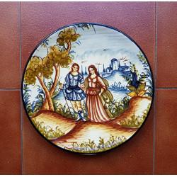 "Ceramic plate ""Rama"" ref.32-2"