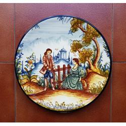 "Ceramic plate ""Rama"" ref.32-3"