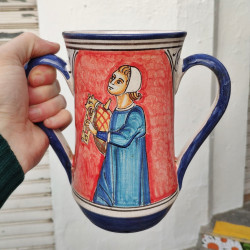 "Vaso ""dos asas"" de cerámica..."