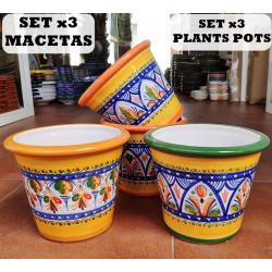 Set de 3 Macetas ref.95-15-am2