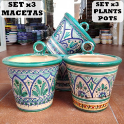 Set of 3 Plants Pots-Hang...