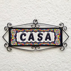 Ceramic tile letters and...
