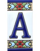 Enamelled ceramic letters