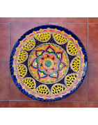 Colorful ceramic plates - Ubeda - Spain -