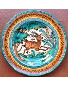 "Spanish ceramic ""Hunting"" style"