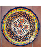 Multicolored Plates 36 cm. (14 inches)